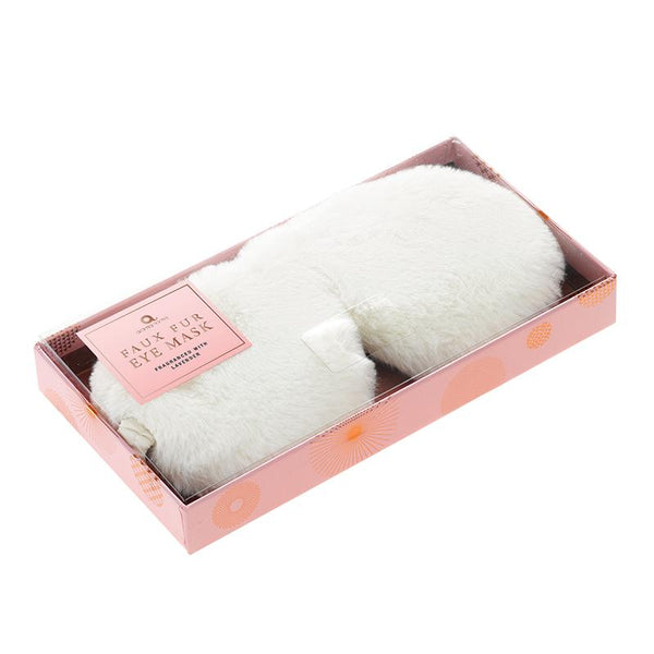 Faux Fur Range Eye Mask - Cream