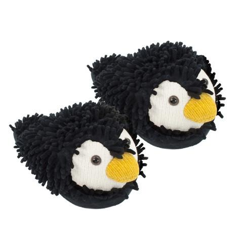 Fuzzy Friends Slippers Penguin