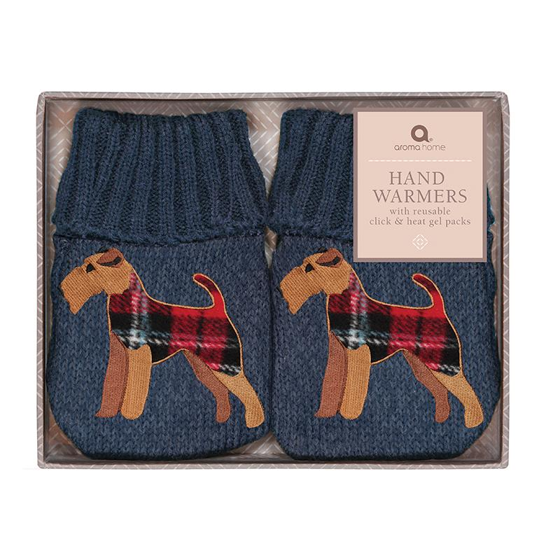 Fox Terrier Heated Knitted Hand Warmers
