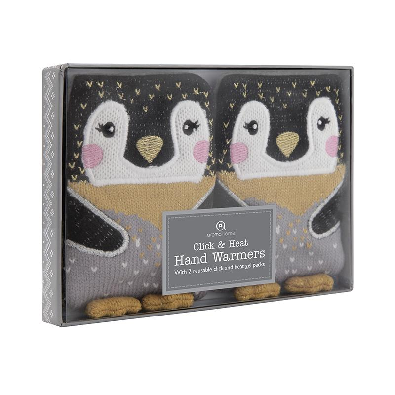 Penguin Heated Knitted Hand Warmers