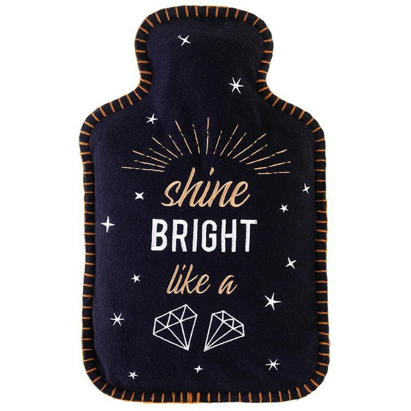 Shine Bright Like A Diamond Hot Water Bottle