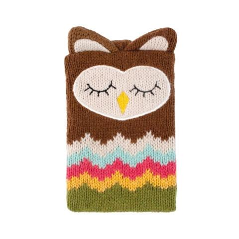 Knitted Owl Novelty Phone Case