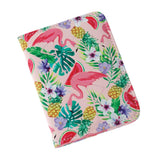 Flamingo Passport Holder with Luggage Tag