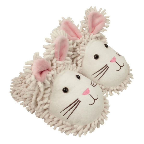 White Rabbit Fuzzy Friends Slippers