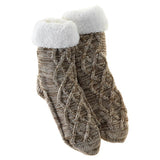 Inspired by Nature Brown Slipper Socks