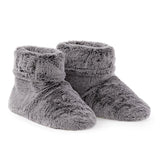 Faux Fur Grey Slippers