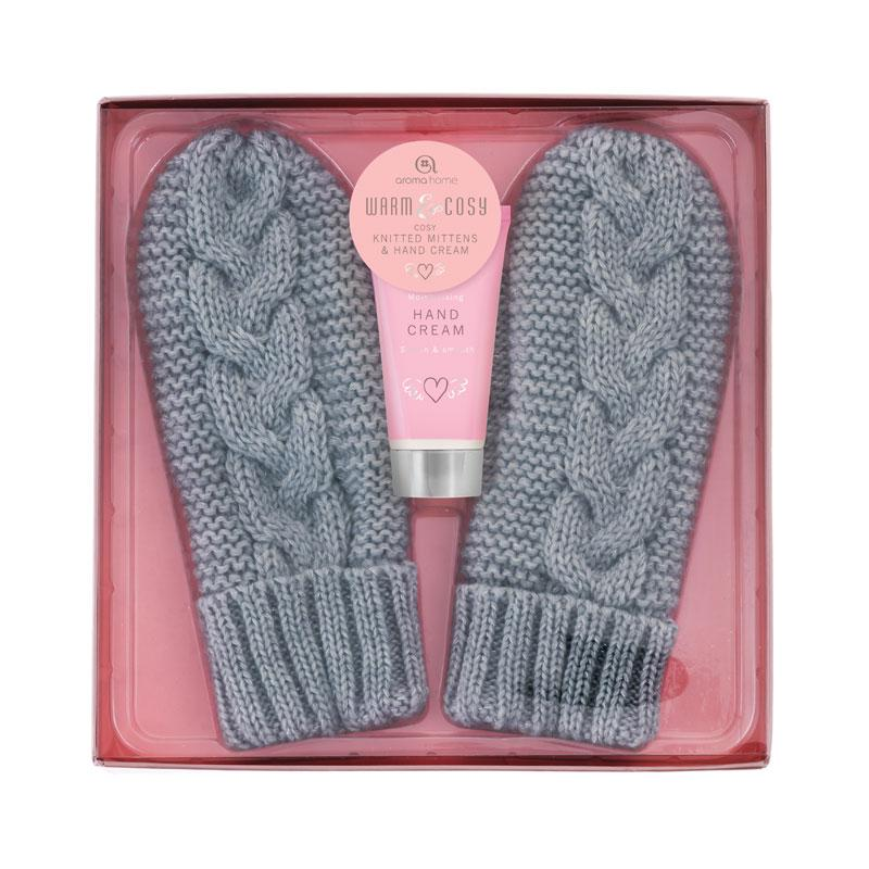 Mittens with Hand Lotion - Grey
