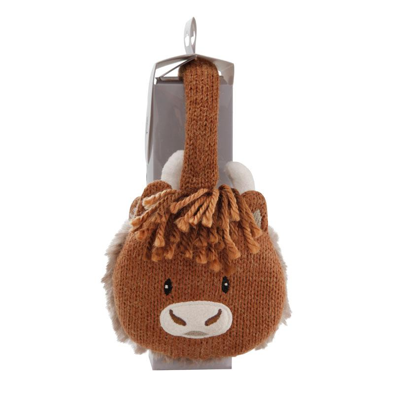 Knitted Highland Cow Cosy Ears