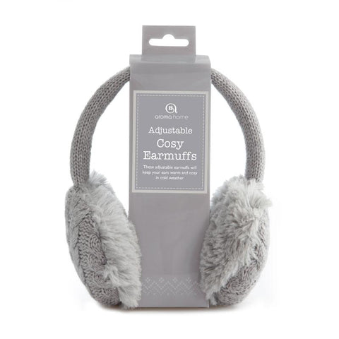 Knitted Ear Muffs Grey