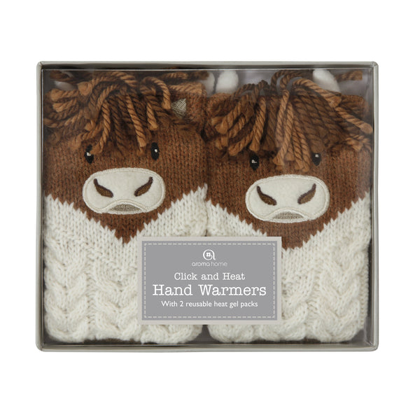 Knitted Highland Cow Range - Hand Warmers