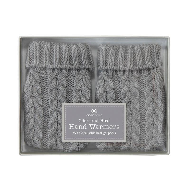 Knitted Hand Warmers Grey