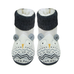 Knitted Snow Owl Range - Booties