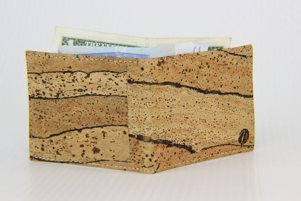 TIGER PATTERN BROWN CORK BIFOLD WALLET