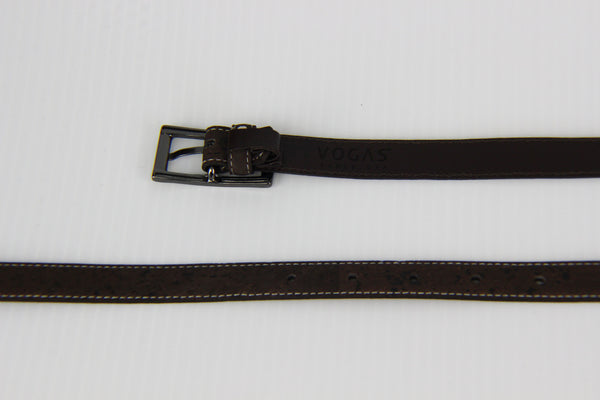 WOMENS DARK BROW CORK BELT