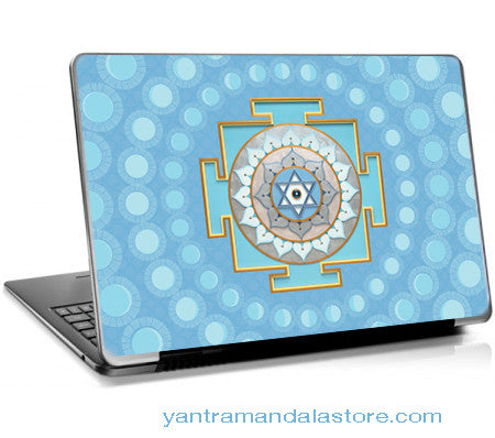 Moon (Chandra) Yantra Laptop Skin