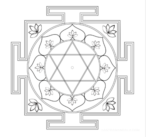 Lakshmi Yantra Coloring Page - Free Download
