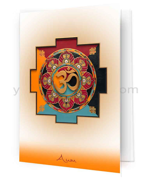 Aum (OM) Mandala Fine Art Greeting Card