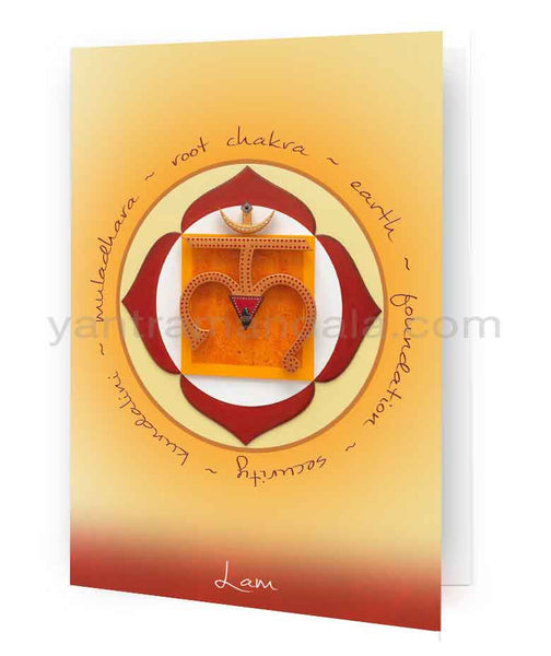 Muladhara Chakra (Root Chakra) Fine Art Greeting Card