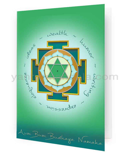 Buddha (Merucry) Yantra Fine Art Greeting Card