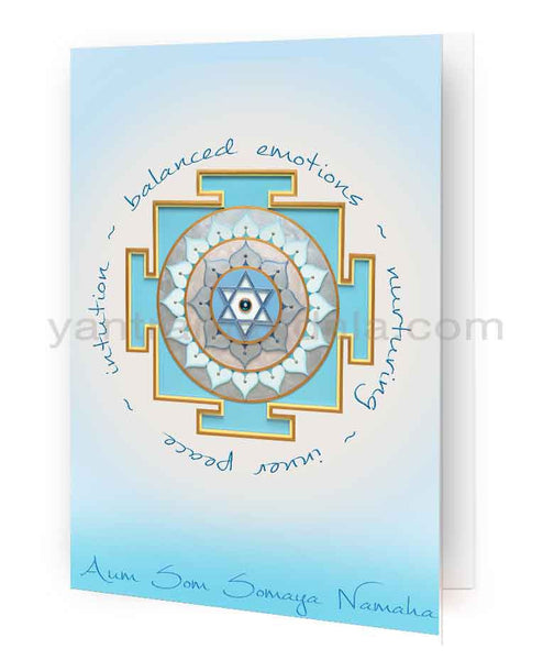 Chandra (Moon) Yantra Fine Art Greeting Card