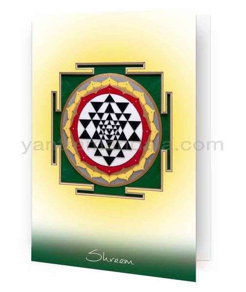 Shri Yantra Fine Art Greeting Card