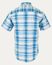 Cobalt Blue Large Plaid
