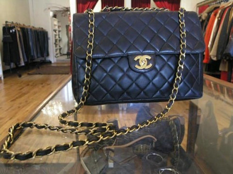 Classic Chanel Flap black lambskin with gold hardware