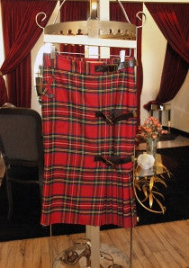 lamb red plaid skirt