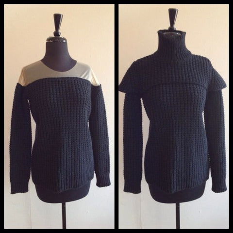 margiela knit sweater capelet