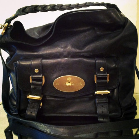mulberry hobo black leather bag june resale