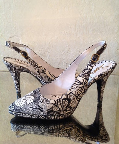yves saint laurent bird slingback shoes