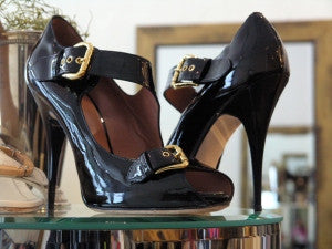 zanotti patent leather pumps