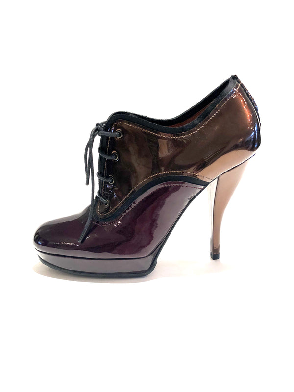 Lanvin Copper Wine Patent Shoes