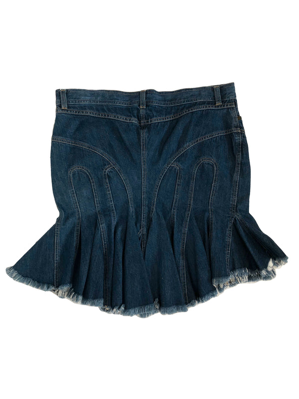 Alexander McQueen Denim Skirt