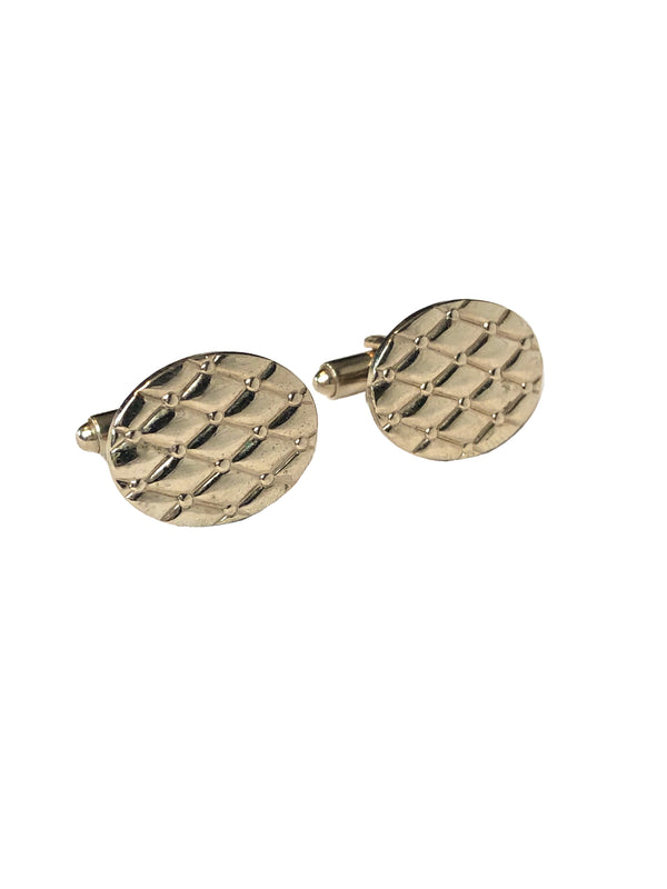 Vintage Quilted Oval Cufflinks