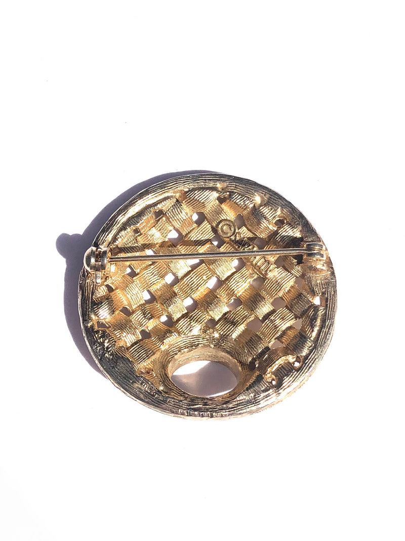 Sarah Coventry Basket Weave Pin