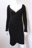 Vicky Tiel Couture Black Rhinestone Wiggle Dress, Vintage