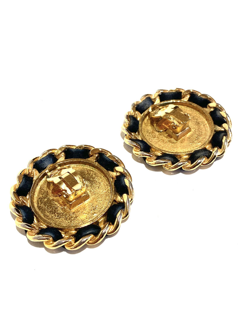 Chanel Round Silhouette Clip Earrings