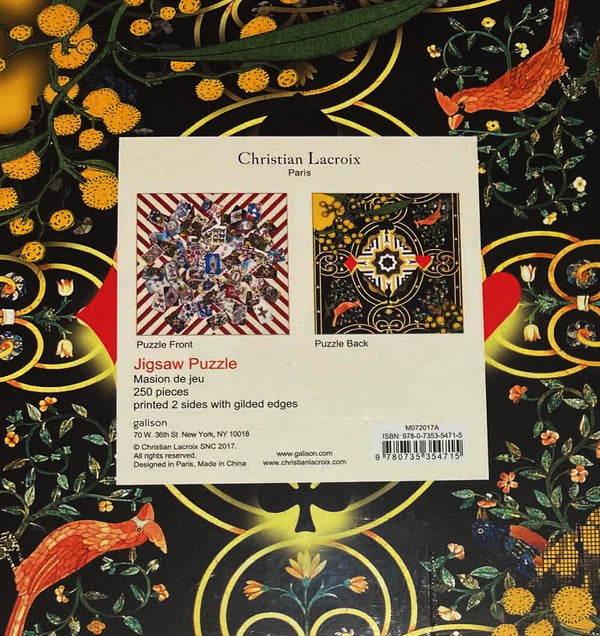 Christian Lacroix Maison De Jeu Two-Sided Puzzle