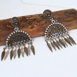 AZ Oxidized metal traditional earrings Ethnic style for women and girls