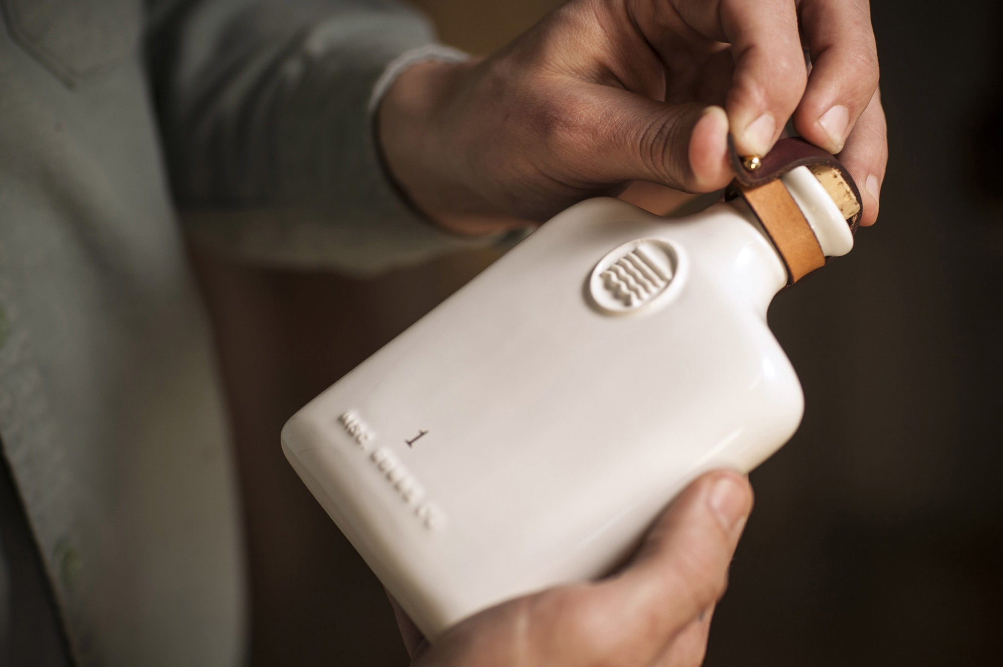 Misc. Goods Co. Ceramic Flask By Tyler Deeb