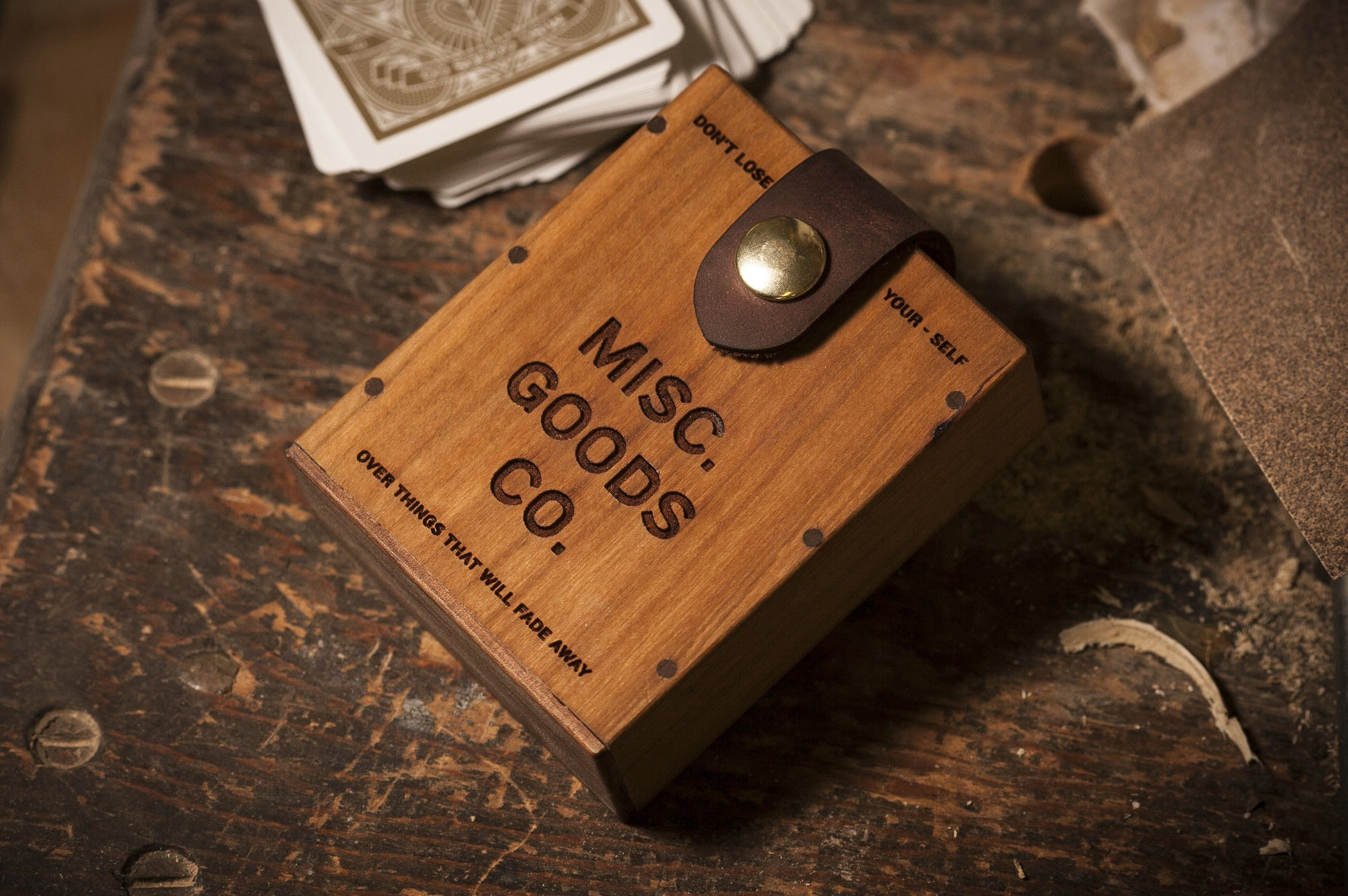 Misc Goods Co. Wooden Hard Case by Tyler Deeb