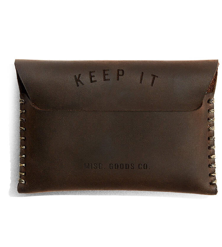 Misc. Goods Co. Full-Grain, Flap Leather Wallet Designed By Tyler Deeb