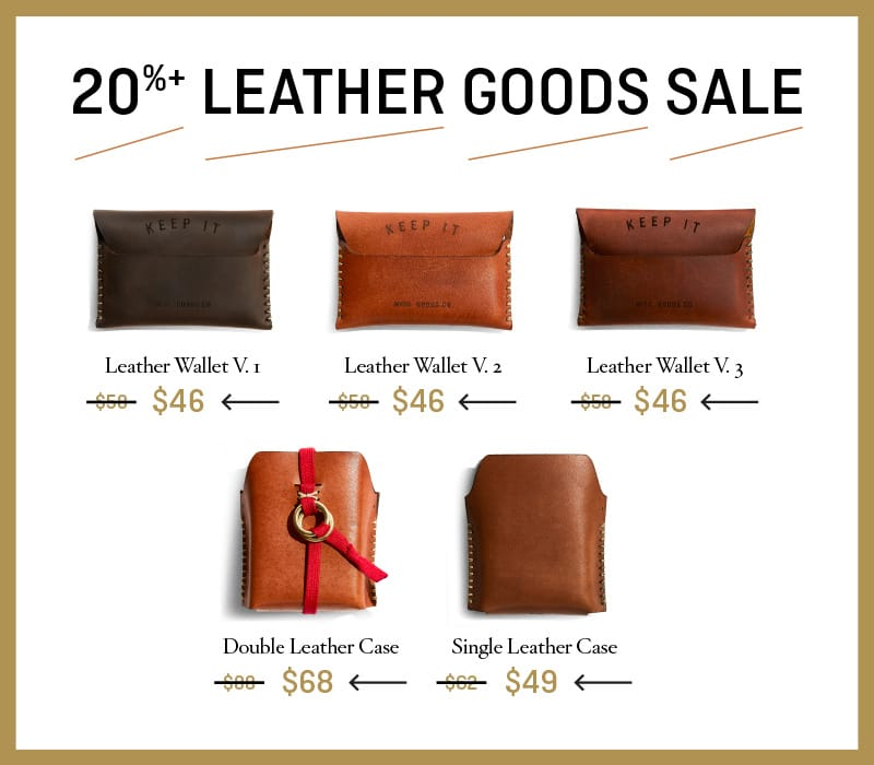 20%+ Leather Goods Sale
