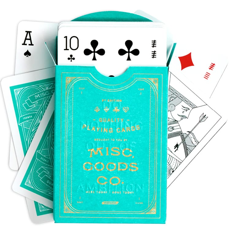 Green Deck of Playing Cards