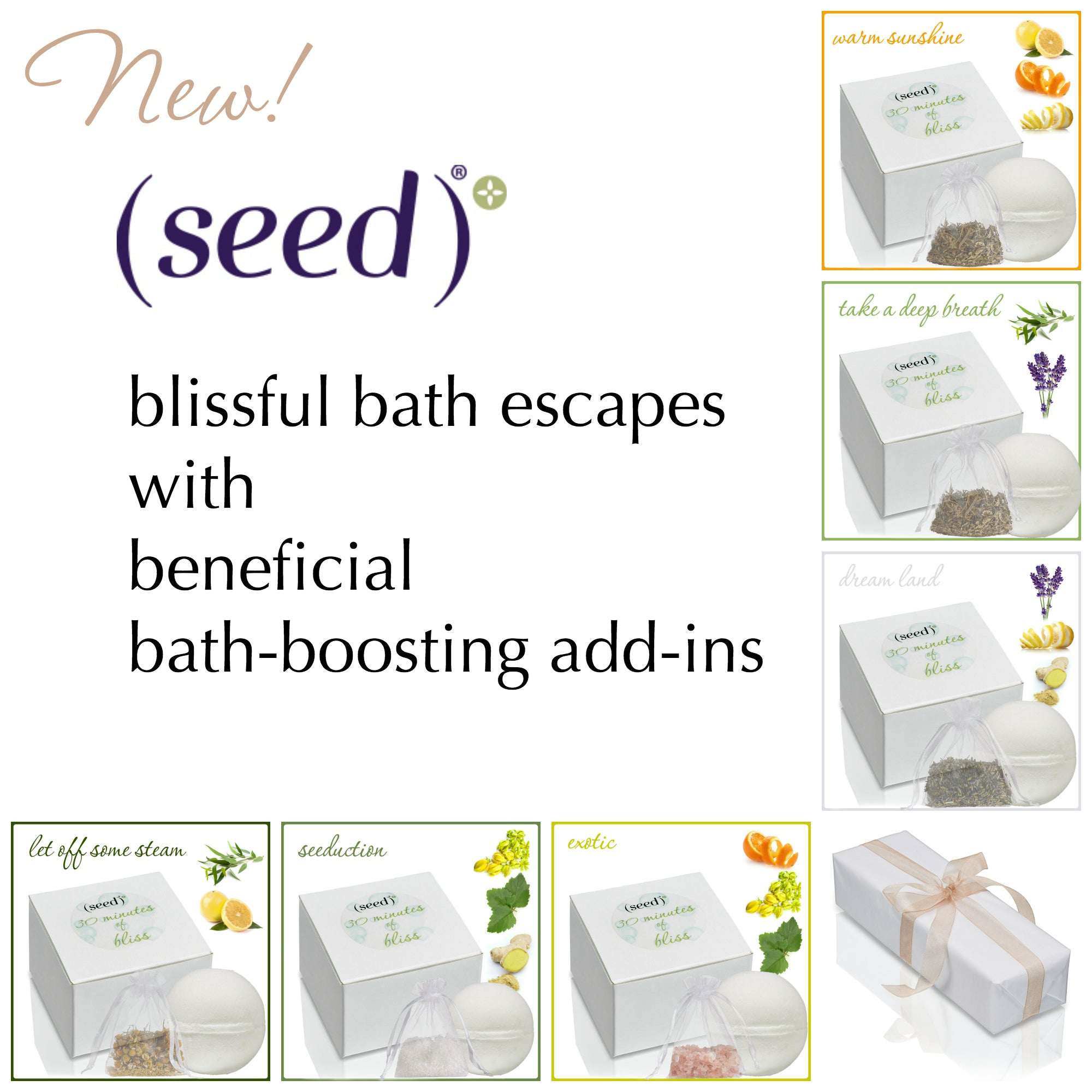 Seed Bath Blossoms are a better Bath Bomb