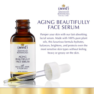 About Seed Advanced Botanicals Aging Beautifully Face Serum Oil