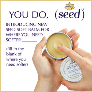 New Seed Soft Balm for soft lips hands heels knuckles