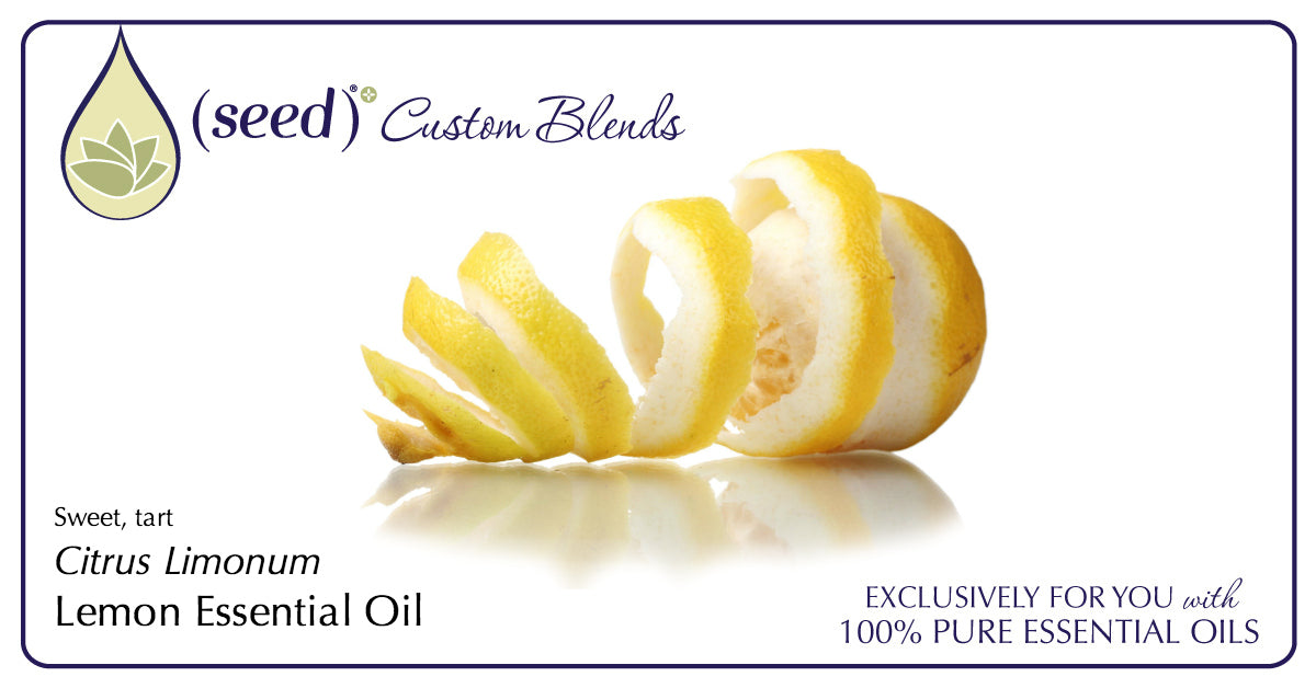 Seed Custom Blends offer Lemon Essential Oil