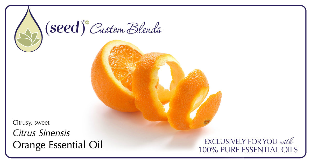 Seed Custom Blends offer Orange Essential Oil